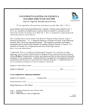 Direct Deposit Notification Form - University System of Georgia Shared Services Center