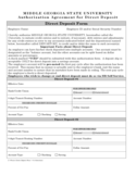 Direct Deposit Form - Middle Georgia State College