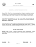 Residential Property Disclosure Form - Ohio
