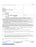 FL-140 Declaration of Disclosure - Family Law