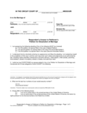 Respondent's Answer to Petitioner's Petition for Dissolution of Marriage - Missouri