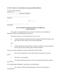 Final Decree of Dissolution of Marriage Without Children - New Mexico