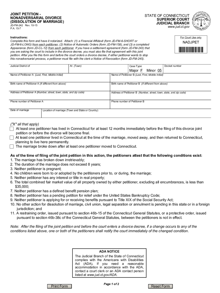 Dissolution of Marriage Form - 20 Free Templates in PDF