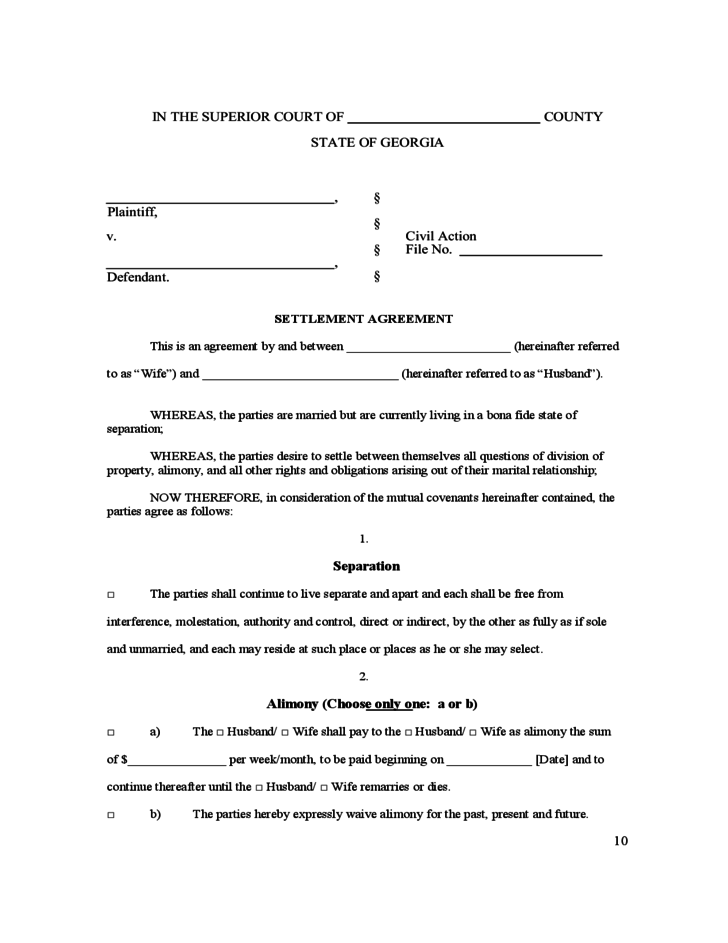Decisive image with regard to free printable uncontested divorce forms georgia