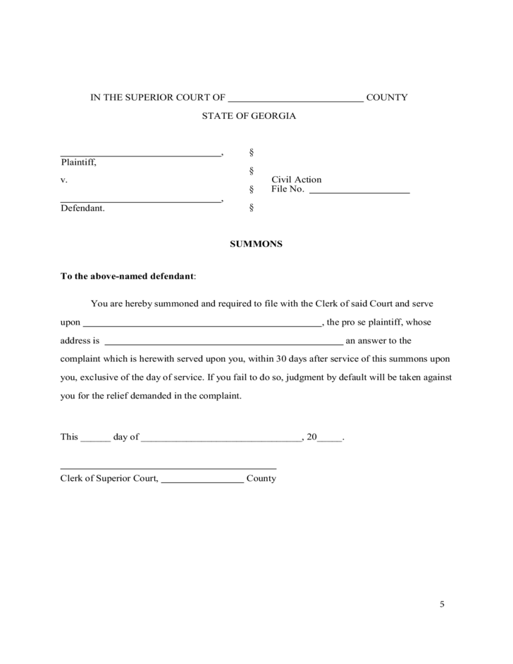 Uncontested Divorce Without Children Georgia Free Download