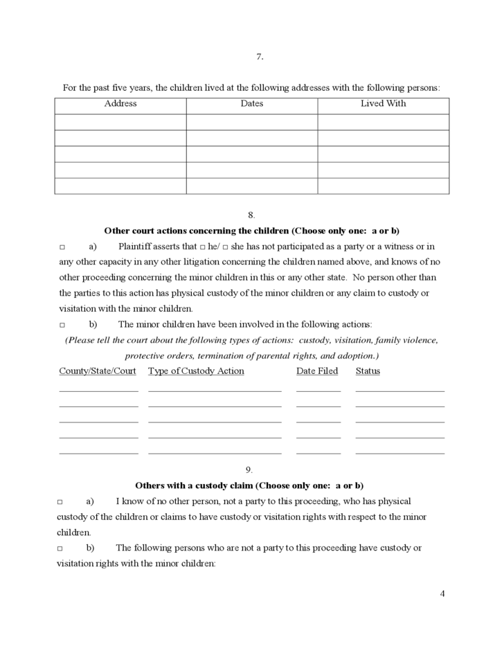 Adaptable image for free printable uncontested divorce forms georgia