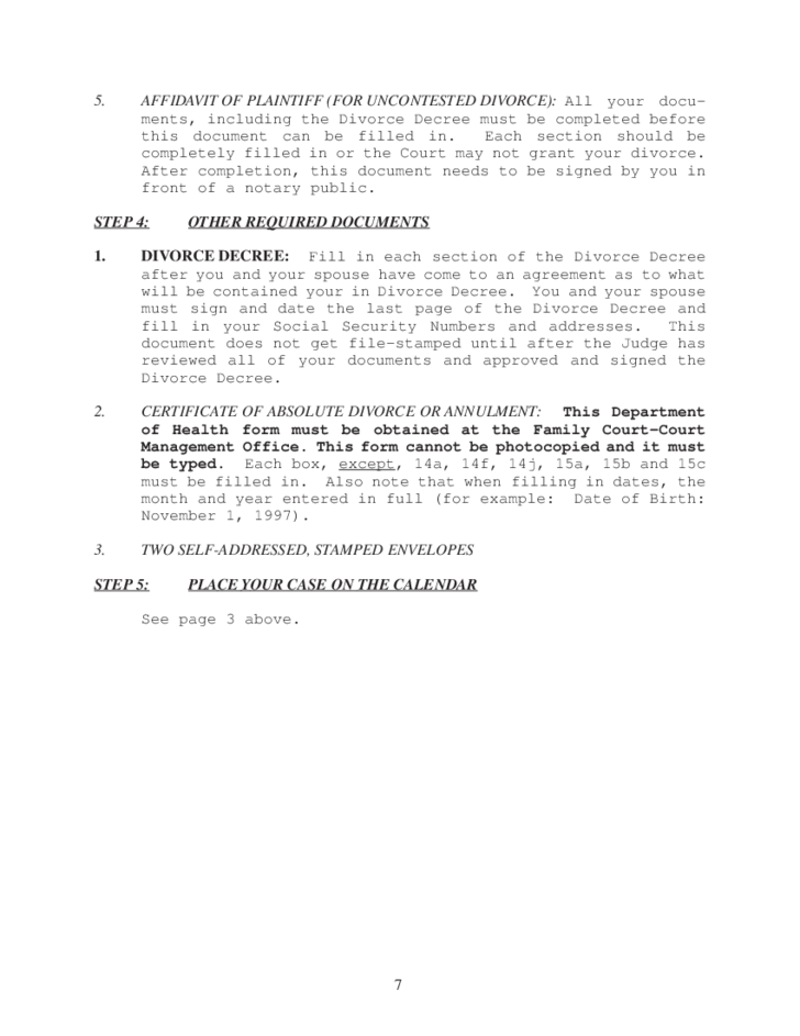 Instructions uncontested divorce packet no children hawaii 7 instructions uncontested divorce packet no children hawaii solutioingenieria Image collections