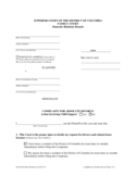 Complaint for Absolute Divorce - District of Columbia Free Download