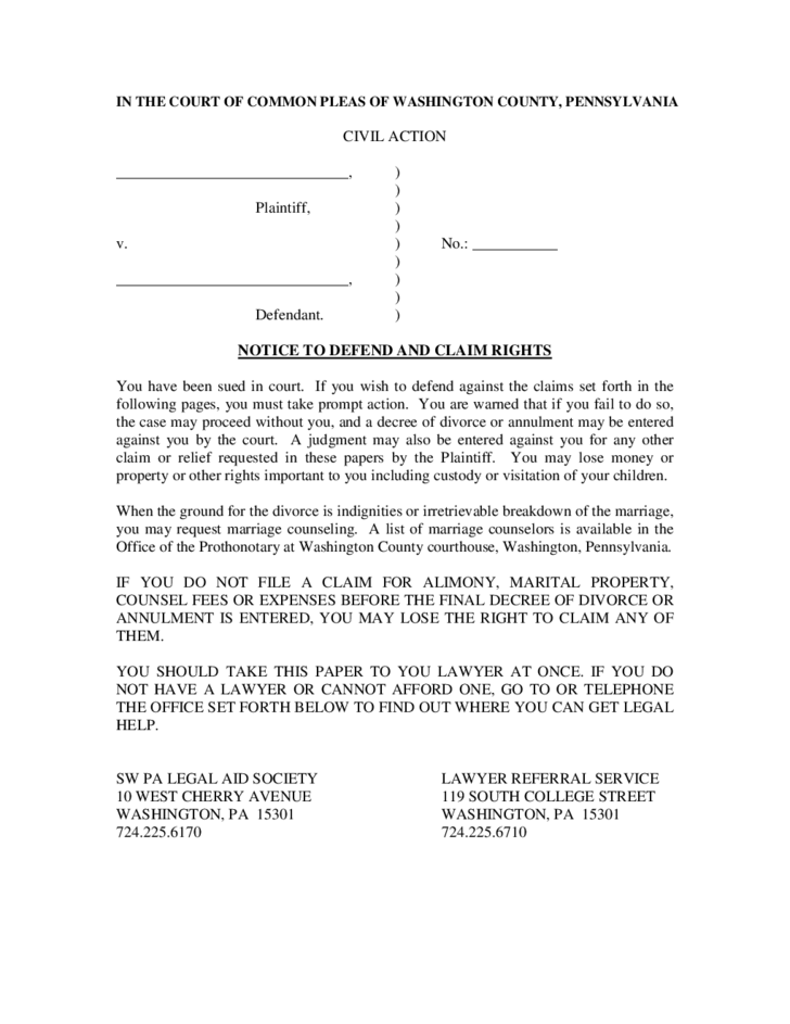 complaint for divorce The divorce/dissolution petition is a legal document that is filed in court by a spouse who seeks a divorce also called the complaint in some states, the petition informs the court of the filing spouse's (called the petitioner) desire to end the marriage, and its filing with the court signifies the initiation of the divorce process.