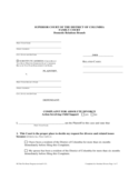 Complaint for Absolute Divorce - the District of Columbia  Free Download