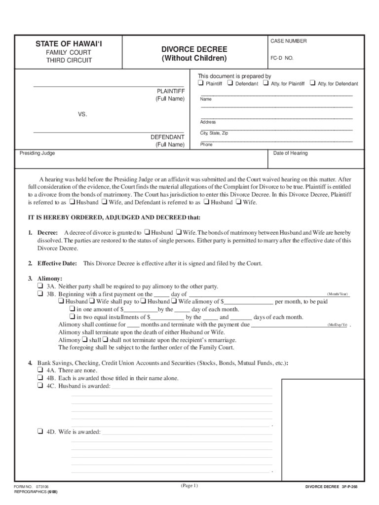 divorce template – Printable Fake Divorce Papers