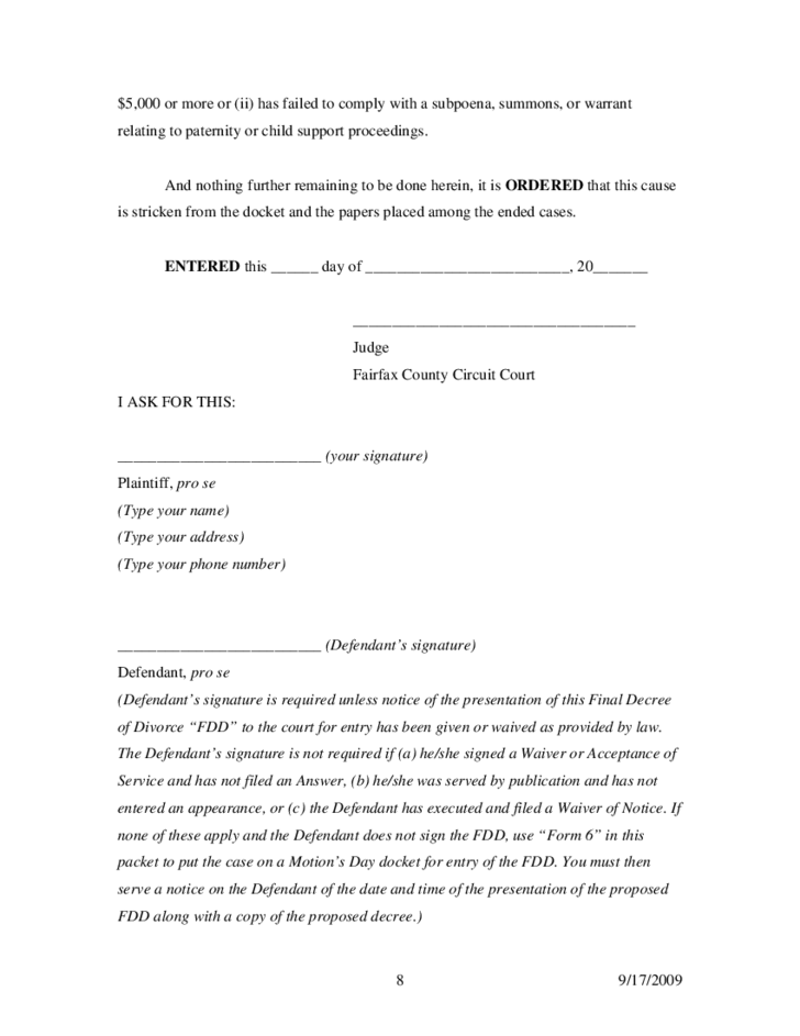 Blank Divorce Decree Certified Copy of Divorce Decree Michigan – Sample of a Divorce Decree