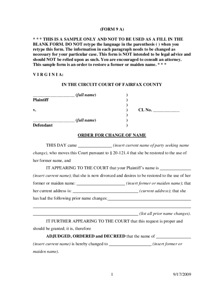 Final Decree Of Divorce Virginia Free Download