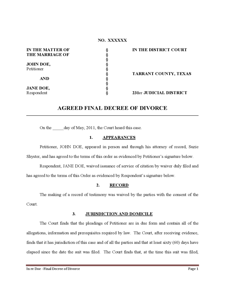 patty bean divorce decree Patty bean plaintiff case ordered and adjudged by the court that the decree of divorce is hereby granted to the plaintiff and the marriage relationship.