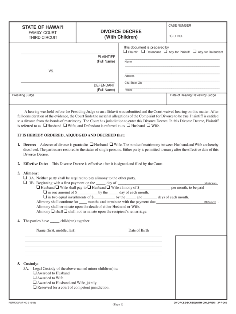 Divorce Decree Template reward charts template – Sample of a Divorce Decree