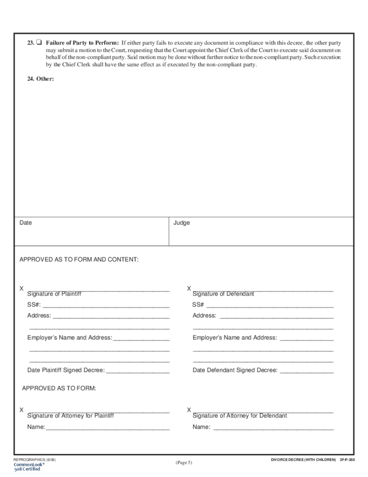 Doc12751650 Blank Divorce Papers Free printable divorce – Blank Divorce Decree