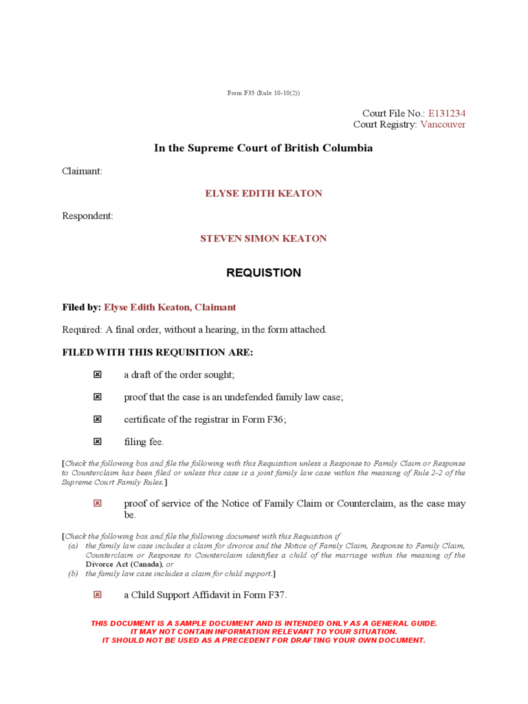 Fake Divorce Papers Template  Examples Of Divorce Papers