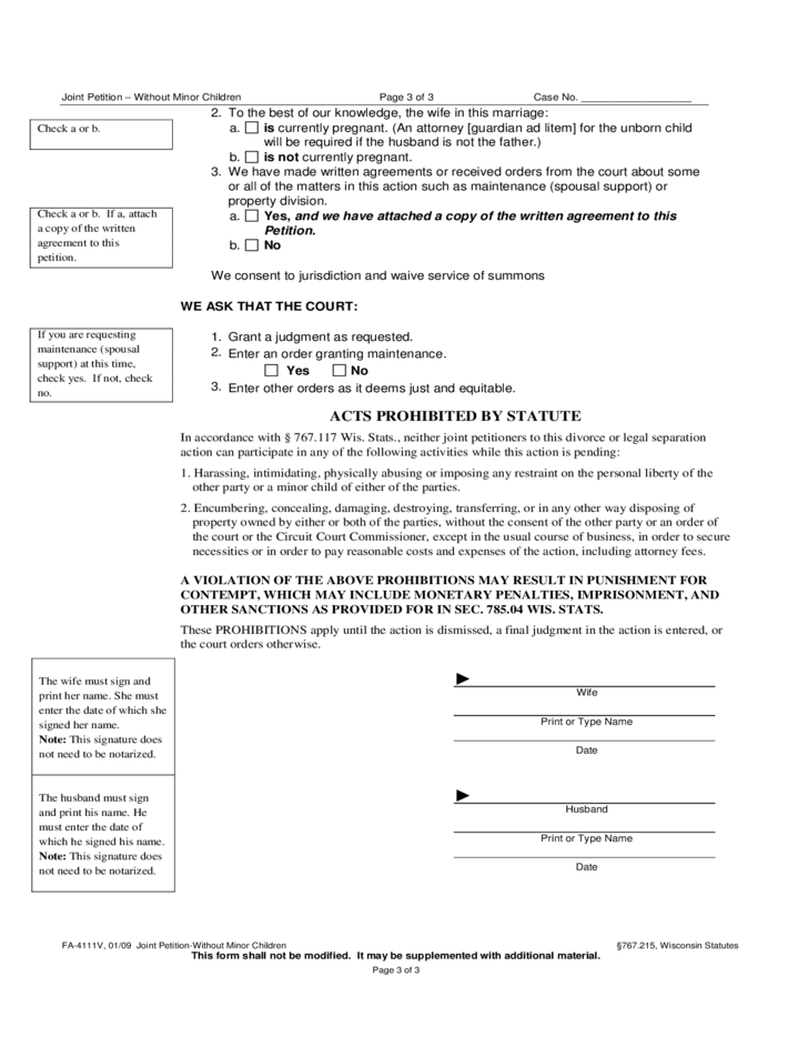 joint-peion-without-minor-children-wisconsin-court-system-l3 Power Of Attorney Form Wisconsin on power of appointment form, acknowledgment form, contract form, easement form,