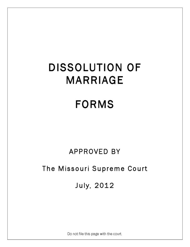 petition for dissolution of marriage form
