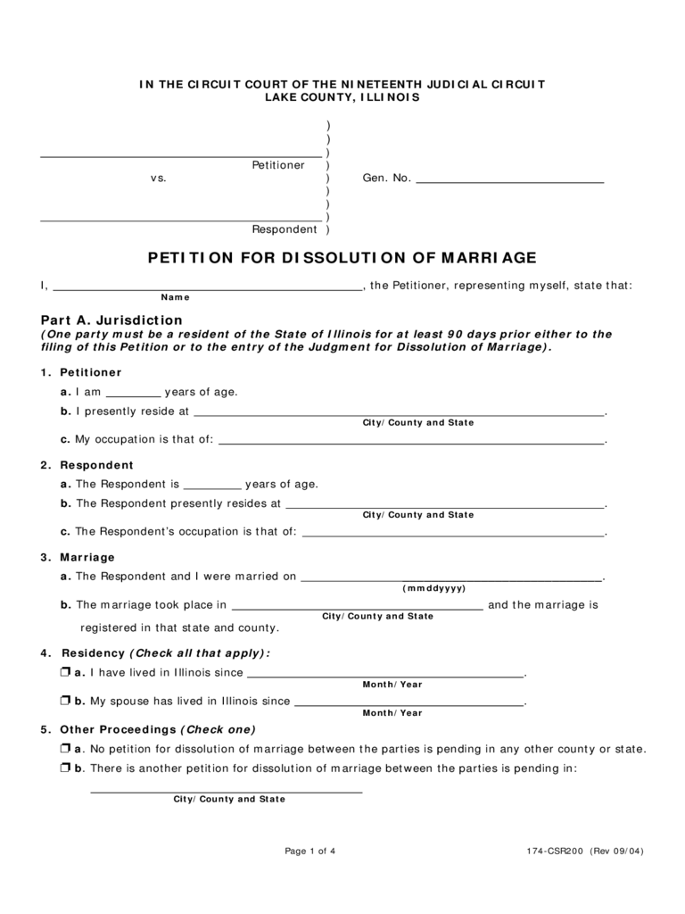 photo about Free Printable Divorce Papers for Illinois named Illinois Divorce Sorts - Free of charge Templates inside PDF, Term, Excel