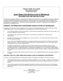 Joint Simplified Dissolution of Marriage - Illinois