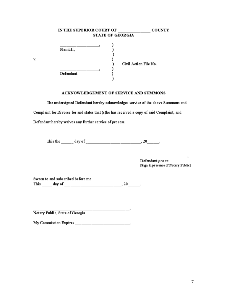 Divorce Summons Form 14 Free Templates In Pdf Word