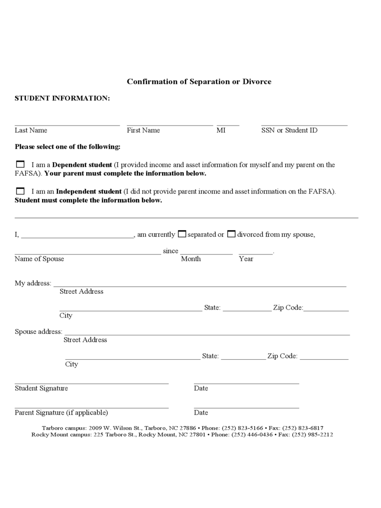 Divorce Verification Form - 28 Free Templates in PDF, Word