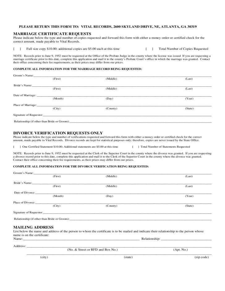 divorce request form