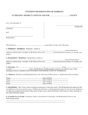 PETITION FOR DISSOLUTION OF MARRIAGE - Iowa