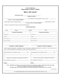 DMV Bill of Sale Form - Nebraska Free Download
