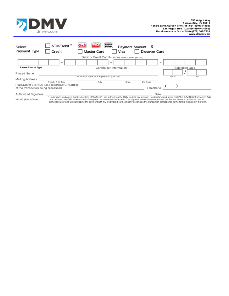 DMV Change of Address Notification Nevada Free Download – Dmv Change of Address Forms