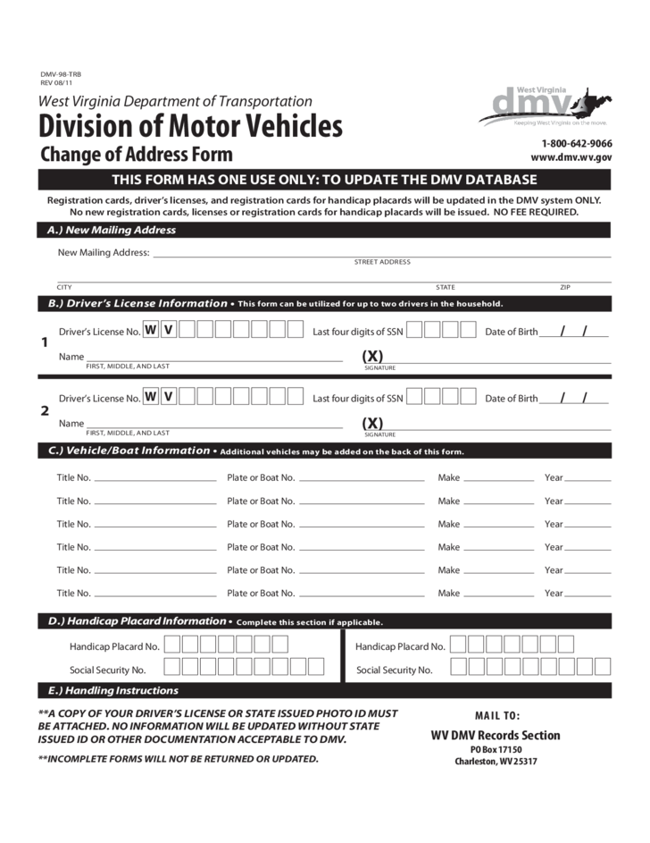 Division of motor vehicles forms west virginia autos post for New york state department of motor vehicles handicap parking permit