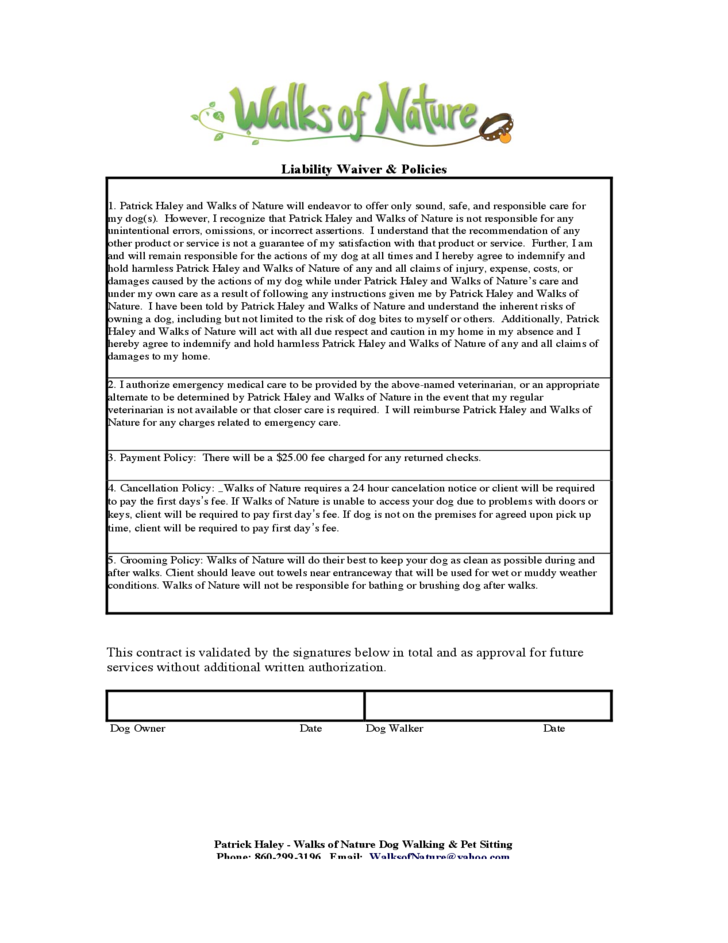dog breeding contract template - dog walking service contract free download