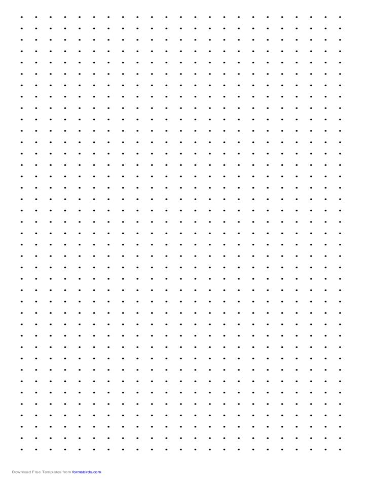 Dot Paper With Three Dots Per Inch On Legal Sized Paper
