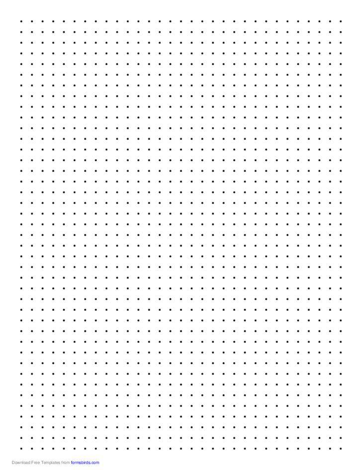 Dot Paper With Four Dots Per Inch On Letter Sized Paper