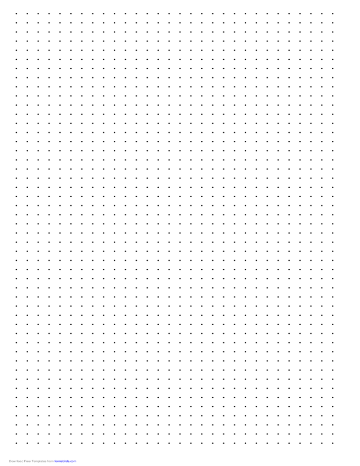 Dot Paper with Three Dots per Inch on Ledger-Sized Paper