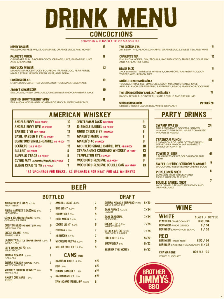 Drink Menu Template 3 Free Templates In Pdf Word Excel