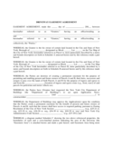 Driveway Easyment Agreement - New York Free Download