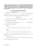 Private Road Easement Agreement- - Michigan Free Download