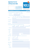 Application Form for a Driving Licence D401