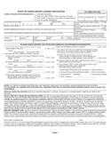 Application for Driver License - Hawaii Free Download