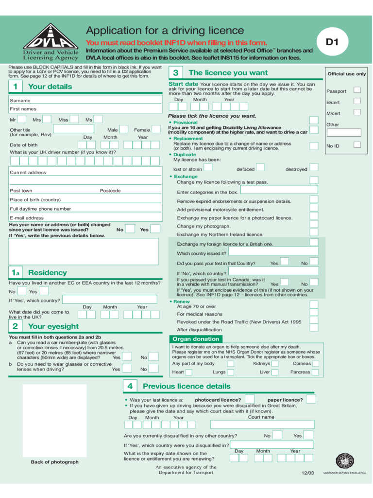 Non Driver Id Application Ba 207 Form