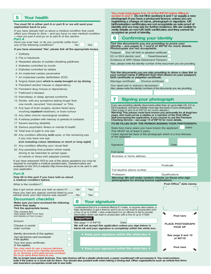 Application for A Driving Licence Free Download
