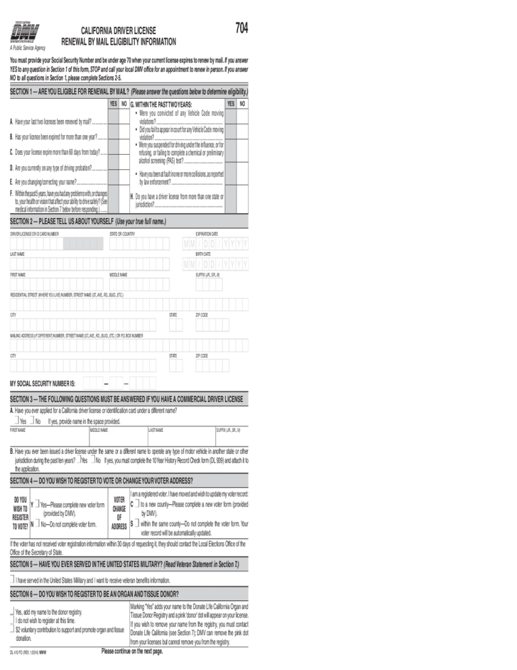 Driving Licence Print Forms