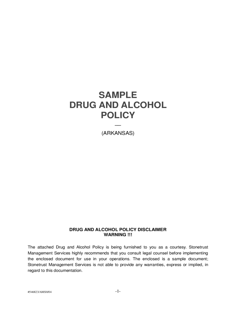 Drug and alcohol policy template 2 free templates in pdf for Alcohol and drug abuse policy template