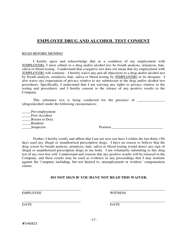 sample drug and alcohol policy free download