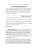 General Durable Power of Attorney - New Jersey Free Download