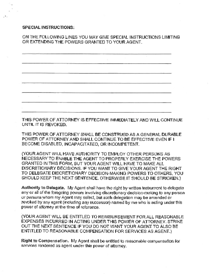 General Durable Power Of Attorney Maryland Free Download