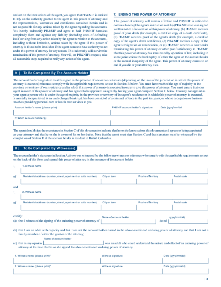Power Of Attorney Manitoba Form Images Free Form Design Examples