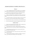 Durable Power of Attorney for Finances Free Download